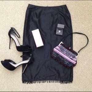 Alice & Trixie Dresses & Skirts - 💕🎉HP 🎊💘  Alex & Trixie 100% Silk Fringe Skirt