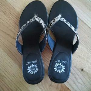 Yellow Box Shoes - 🎈SALE🎈Calf hair thong sandal