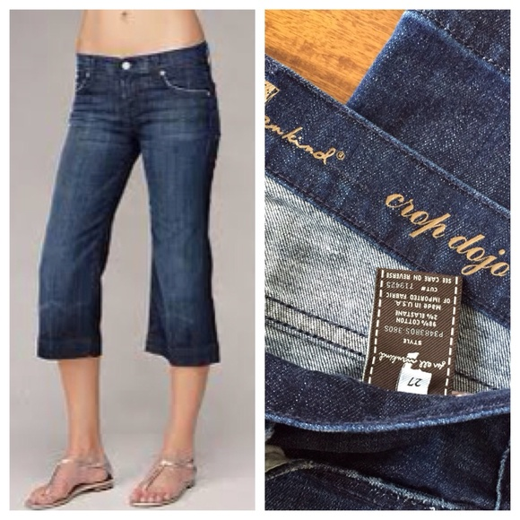 83% off 7 for all Mankind Denim - 7 for all Mankind crop Dojo ...