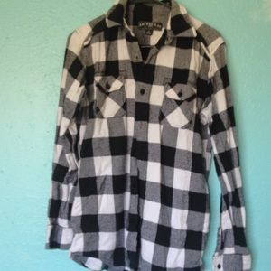 Anchor Blue Tops - Black & White Flannel