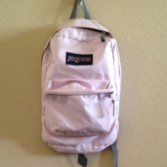80% off Jansport Handbags - Light Pink Jansport Backpack from ...