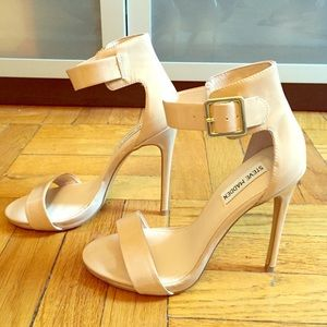 Steve Madden Shoes - Nude Ankle Strap Stilettos