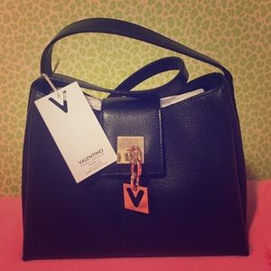 Black Leather Authentic Valentino bag