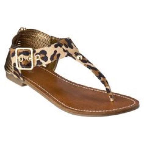 555e6d03bbe2 Mossimo Cheetah Print Sandals From Target. M 55b2ea26a3a01f74bc000ab1