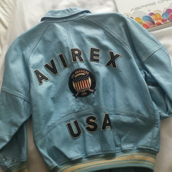 99% off Avirex Other - 🎉🎉🎉VINTAGE AVIREX KIDS LEATHER JACKET ...