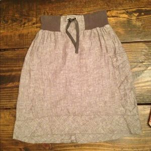 New Horny Toads a line gray drawstring skirt XS S