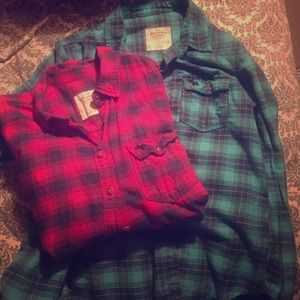 Two Abercrombie flannels