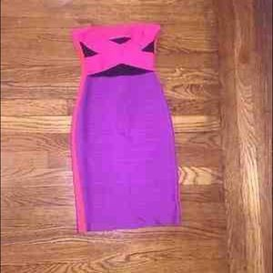 Authentic Herve Leger Strapless Dress