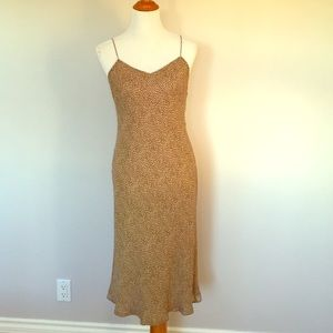 Ann Taylor Leopard Print Slip Dress