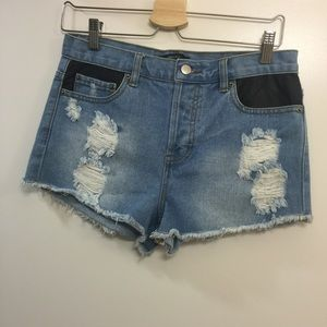 Forever 21 Pants - F21 distressed high waisted denim shorts