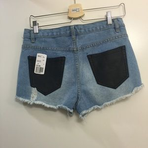 Forever 21 Shorts - F21 distressed high waisted denim shorts