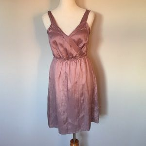 Banana Republic Lavender Satin Dress