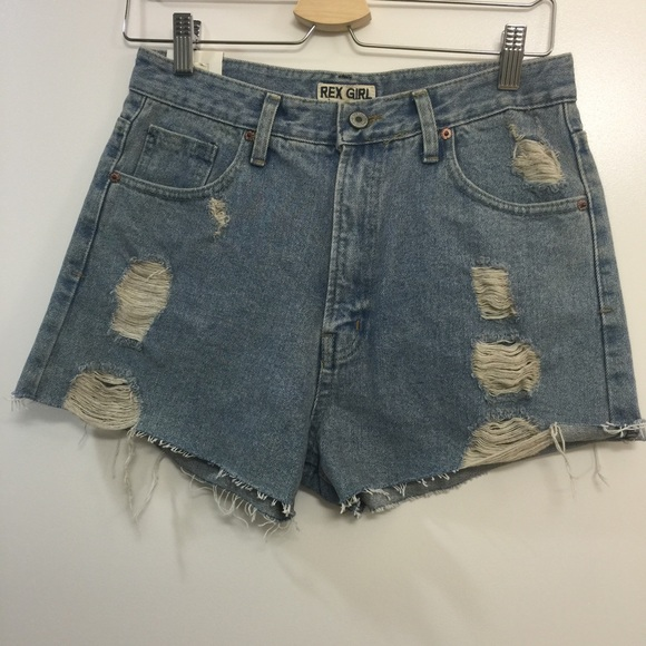 Rexgirl Pants - Vintage denim high waisted shorts NWT