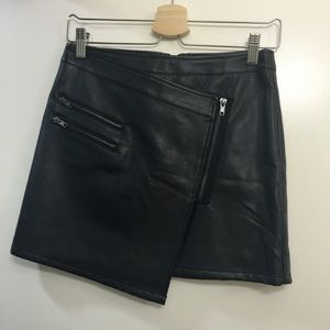 Forever 21 Dresses & Skirts - Faux leather skirt asymmetric from F21