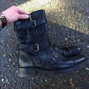 J Crew motorcycle boots