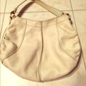 White leather lucky brand bag.
