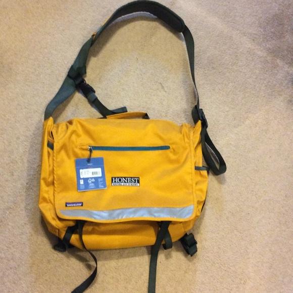 Patagonia yellow messenger bag 9c36479c4399e