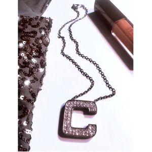 Jewelry - •Sparkly Crystal Chunky Letter C initial Necklace