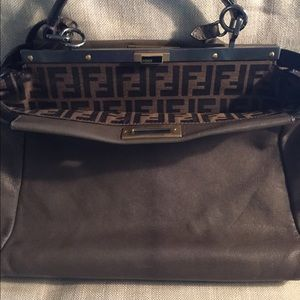 FENDI large Peek-a-boo tote bag