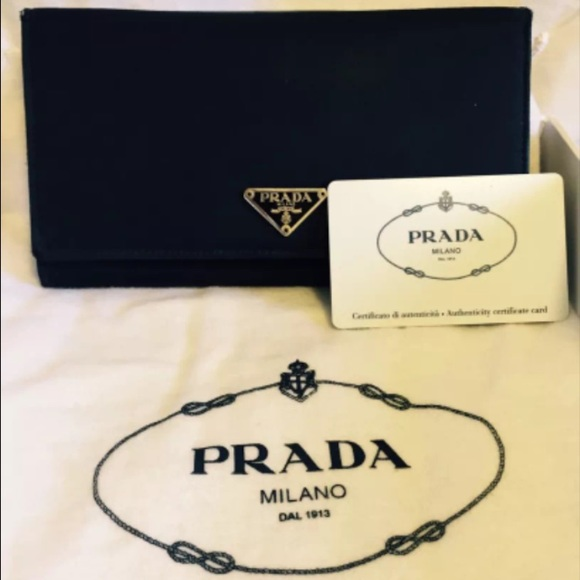 authentic prada sneakers for cheap - 79% off Prada Clutches \u0026amp; Wallets - Prada black nylon tessuto ...