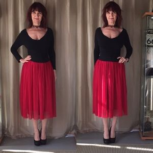 Dresses & Skirts - NEW IN PACKAGE RED TULLE LINED SKIRT