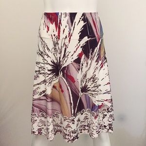 Dresses & Skirts - Colorful Mosaic A Line Skirt with Belt Loops