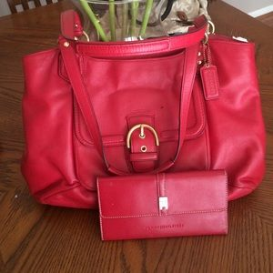 Coach Handbags - Coach Red leather Handbag