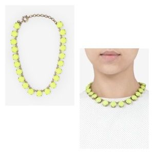 Authentic J.Crew neon yellow necklace