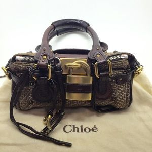 80% off Chloe Handbags - Chloe Paddington Leather Lock Zipper ...