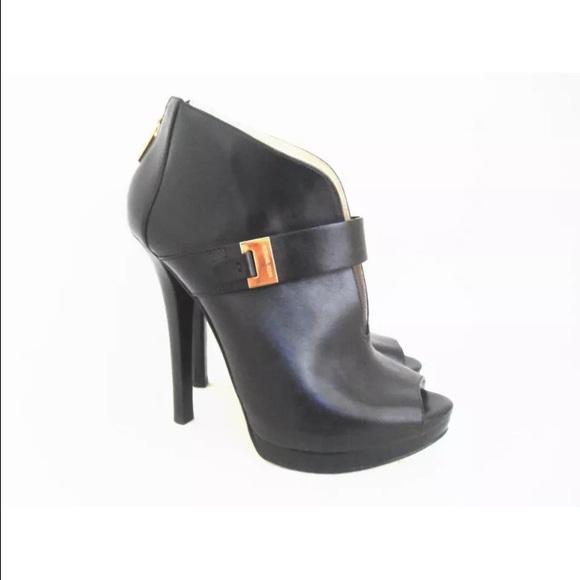 3f2b07487c3 MICHAEL KORS Guiliana Leather Bootie Peep Toe. M 558c5591d5704152a30061c4