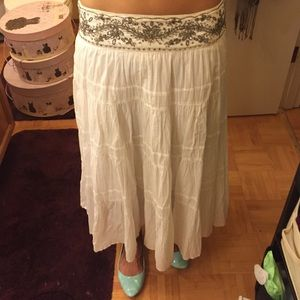 Old Navy Dresses & Skirts - Bohemian white skirt