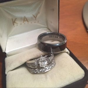 kay jewelers wedding rings for her hover to zoom his and hers wedding bands kay jewelers - Kay Jewelers Wedding Rings For Her