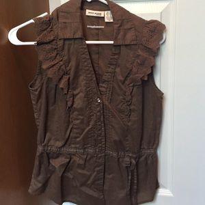 DKNY jeans ruffled top
