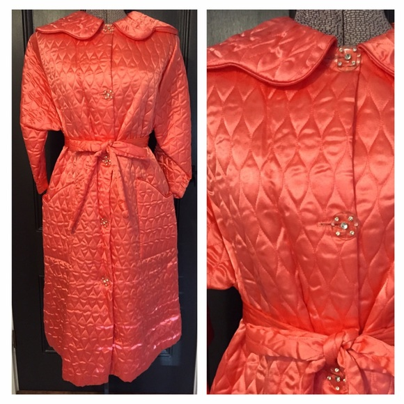 Vintage - Vintage 1950's Pink Quilted Satin Robe from Love you ... : quilted satin robe - Adamdwight.com