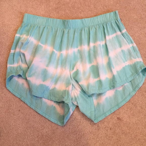 83% off Milkyway Pants - Blue and White tie-dye flowy shorts from ...