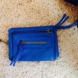 Royal blue clutch