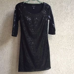 White House Black Market black sequin dress