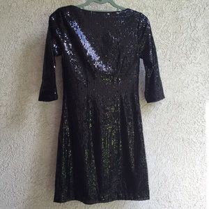 White House Black Market Dresses - White House Black Market black sequin dress