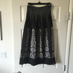 Black Hawaiian print dress or skirt