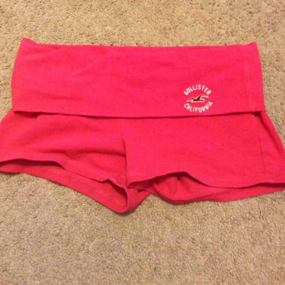 Hot Pink Yoga Shorts From