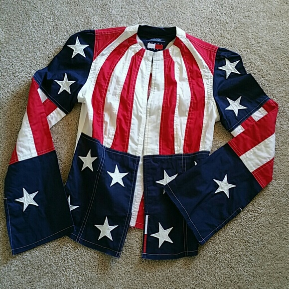 Tommy Hilfiger 4th of July Flag Shirt SMALL