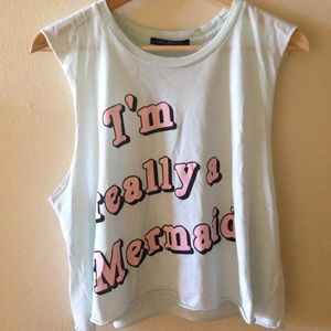 "Wildfox Tops - 🌊NWT WILDFOX ""I'm Really A Mermaid"" Muscle Tank"