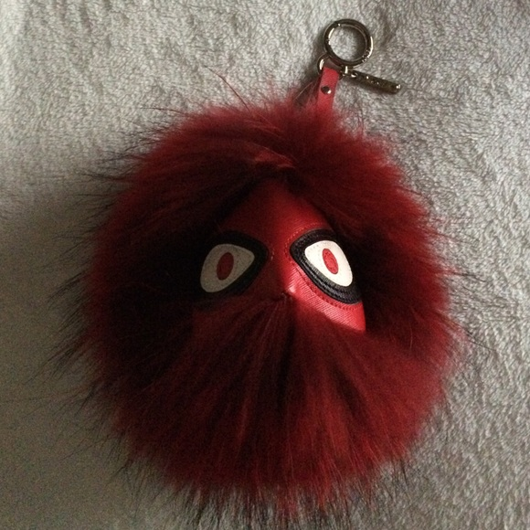 FENDI Accessories - Red Fur Ball Keychain Monster 913755c00