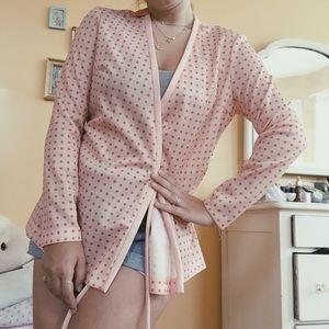Vintage Pink Tie Sweater