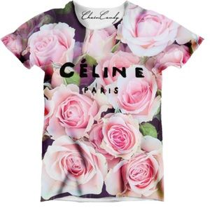 Celine Paris Floral Printed Relaxed T-Shirt