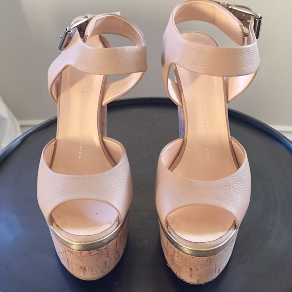 7a59b11c18d Giuseppe Zanotti Shoes - Giuseppe Zanotti Ankle Wrap Cork Wedge Sandal