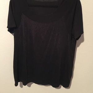 Tops - Cotton blouse with sequins tunic