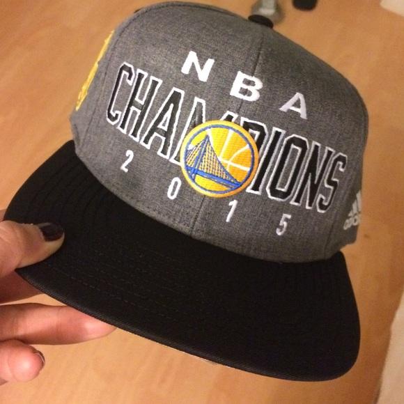 9e32f2054f3 WARRIORS 2015 NBA Finals Championship SnapBack
