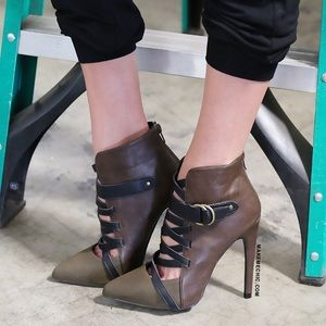 MakeMeChic Boots - Military Inspired Pointy Toe Booties
