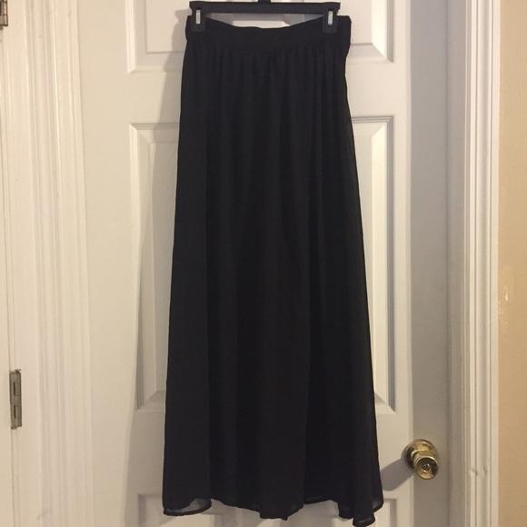 73 dresses skirts sheer black maxi skirt from